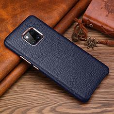 Funda Lujo Cuero Carcasa L01 para Huawei Mate 20 RS Azul