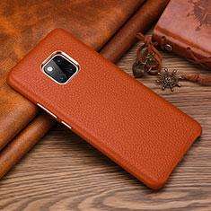 Funda Lujo Cuero Carcasa L01 para Huawei Mate 20 RS Marron
