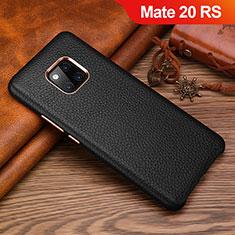 Funda Lujo Cuero Carcasa L01 para Huawei Mate 20 RS Negro