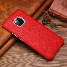 Funda Lujo Cuero Carcasa L01 para Huawei Mate 20 RS Rojo