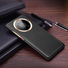 Funda Lujo Cuero Carcasa L01 para Huawei Mate 40 Pro Negro