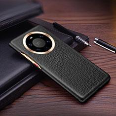 Funda Lujo Cuero Carcasa L01 para Huawei Mate 40 Pro+ Plus Negro