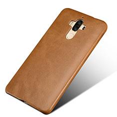 Funda Lujo Cuero Carcasa L01 para Huawei Mate 9 Marron