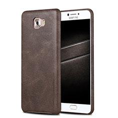 Funda Lujo Cuero Carcasa L01 para Samsung Galaxy C5 Pro C5010 Marron