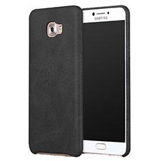 Funda Lujo Cuero Carcasa L01 para Samsung Galaxy C9 Pro C9000 Negro