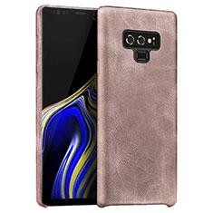 Funda Lujo Cuero Carcasa L01 para Samsung Galaxy Note 9 Oro Rosa