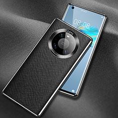 Funda Lujo Cuero Carcasa L02 para Huawei Mate 40 Negro