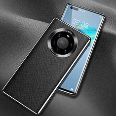 Funda Lujo Cuero Carcasa L02 para Huawei Mate 40 Pro+ Plus Negro