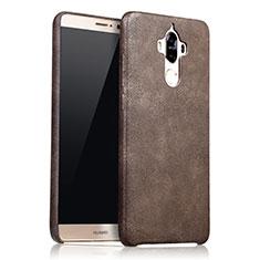 Funda Lujo Cuero Carcasa L02 para Huawei Mate 9 Marron