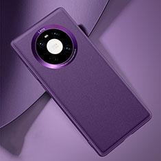 Funda Lujo Cuero Carcasa L03 para Huawei Mate 40 Morado