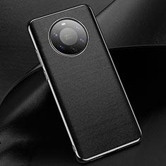 Funda Lujo Cuero Carcasa L03 para Huawei Mate 40 Pro+ Plus Negro