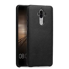 Funda Lujo Cuero Carcasa L03 para Huawei Mate 9 Negro