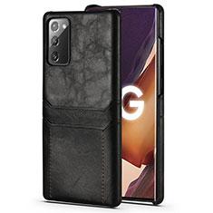 Funda Lujo Cuero Carcasa N02 para Samsung Galaxy Note 20 5G Negro