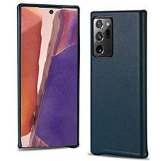 Funda Lujo Cuero Carcasa N02 para Samsung Galaxy Note 20 Ultra 5G Cian