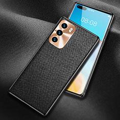 Funda Lujo Cuero Carcasa N03 para Huawei P40 Negro