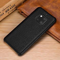 Funda Lujo Cuero Carcasa P01 para Huawei Mate 20 Pro Negro