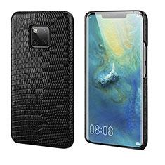 Funda Lujo Cuero Carcasa P02 para Huawei Mate 20 Pro Negro