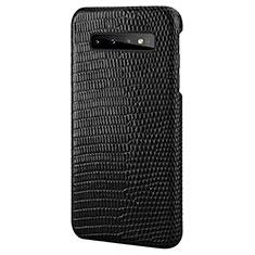 Funda Lujo Cuero Carcasa P02 para Samsung Galaxy S10 Negro