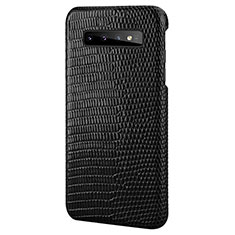 Funda Lujo Cuero Carcasa P02 para Samsung Galaxy S10 Plus Negro