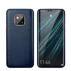 Funda Lujo Cuero Carcasa P03 para Huawei Mate 20 Pro Azul