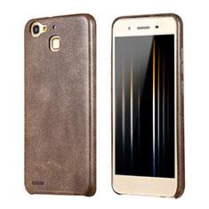 Funda Lujo Cuero Carcasa para Huawei Enjoy 5S Marron
