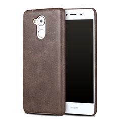 Funda Lujo Cuero Carcasa para Huawei Enjoy 6S Marron