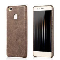 Funda Lujo Cuero Carcasa para Huawei G9 Lite Marron