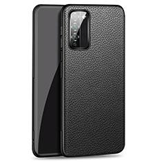 Funda Lujo Cuero Carcasa para Huawei Honor 30 Lite 5G Negro