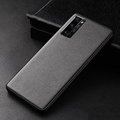 Funda Lujo Cuero Carcasa para Huawei Honor 30 Pro Negro