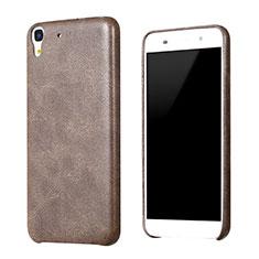 Funda Lujo Cuero Carcasa para Huawei Honor 4A Marron