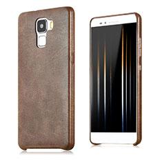 Funda Lujo Cuero Carcasa para Huawei Honor 7 Dual SIM Marron