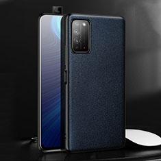 Funda Lujo Cuero Carcasa para Huawei Honor X10 5G Azul