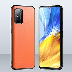 Funda Lujo Cuero Carcasa para Huawei Honor X10 Max 5G Naranja