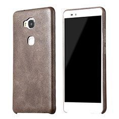 Funda Lujo Cuero Carcasa para Huawei Honor X5 Marron