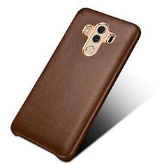 Funda Lujo Cuero Carcasa para Huawei Mate 10 Pro Marron
