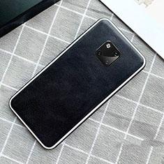 Funda Lujo Cuero Carcasa para Huawei Mate 20 Pro Negro