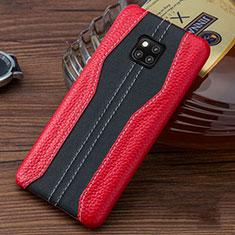 Funda Lujo Cuero Carcasa para Huawei Mate 20 RS Rojo