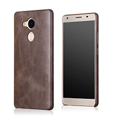 Funda Lujo Cuero Carcasa para Huawei Mate 8 Marron