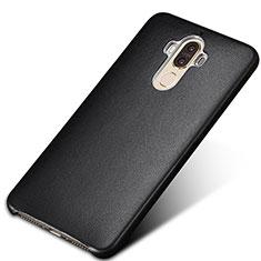 Funda Lujo Cuero Carcasa para Huawei Mate 9 Negro