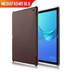 Funda Lujo Cuero Carcasa para Huawei MediaPad M5 10.8 Marron