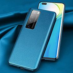 Funda Lujo Cuero Carcasa para Huawei Nova 7 Pro 5G Azul