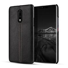 Funda Lujo Cuero Carcasa para OnePlus 7 Negro
