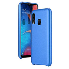 Funda Lujo Cuero Carcasa para Samsung Galaxy A20e Azul