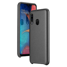 Funda Lujo Cuero Carcasa para Samsung Galaxy A20e Negro