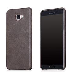 Funda Lujo Cuero Carcasa para Samsung Galaxy A8 (2016) A8100 A810F Marron