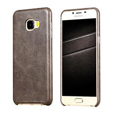 Funda Lujo Cuero Carcasa para Samsung Galaxy C7 SM-C7000 Marron