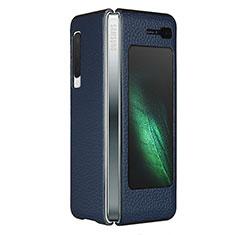 Funda Lujo Cuero Carcasa para Samsung Galaxy Fold Azul