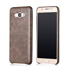 Funda Lujo Cuero Carcasa para Samsung Galaxy J7 (2016) J710F J710FN Marron