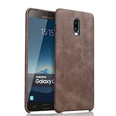 Funda Lujo Cuero Carcasa para Samsung Galaxy J7 Plus Marron