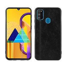 Funda Lujo Cuero Carcasa para Samsung Galaxy M21 Negro